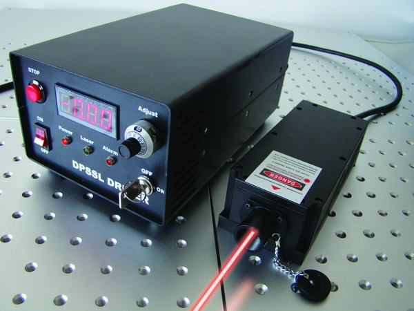 DPSS CW RED laser, 671nm